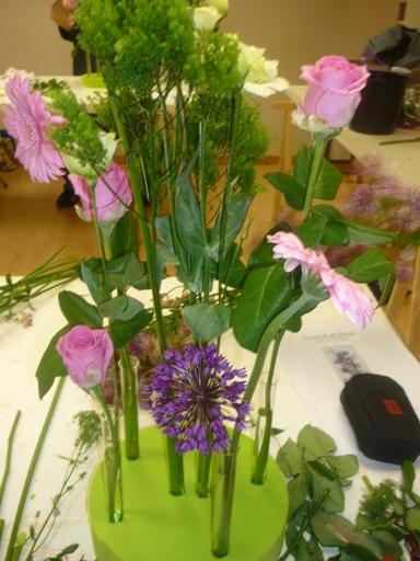 Art floral, on avance