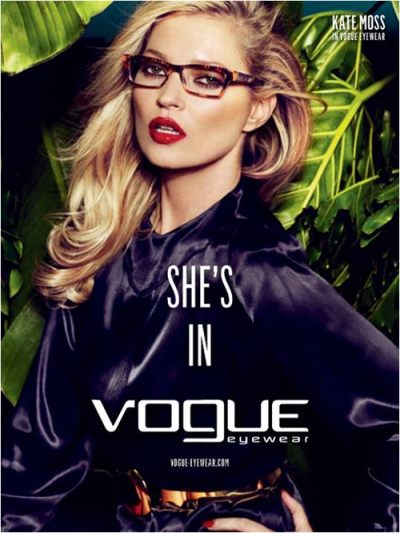 Kate Moss pour Vogue eyewear