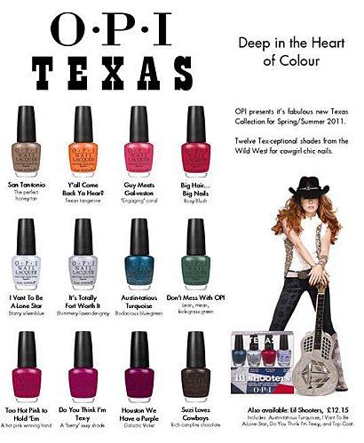 O.P.I Texas P-E 2011