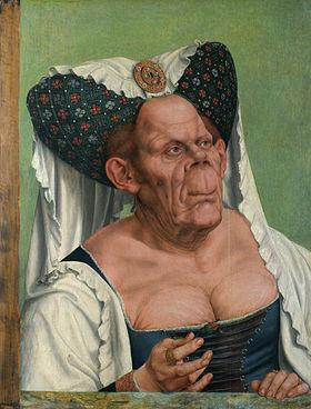 """""""Vieille Femme grotesque"""", un tableau du peintre Quentin Metsys, daté de 1513"""