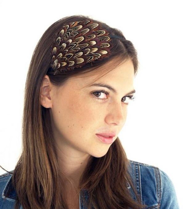 bijoux de tête à plumes