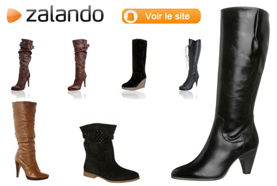 bottes chaussures femme Zalando