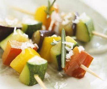 brochettes de legumes