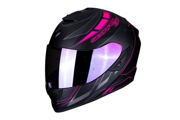 casque scorpion exo 1400 air cup rose