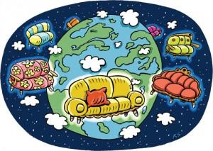 couchsurfing ou canapés dans le monde