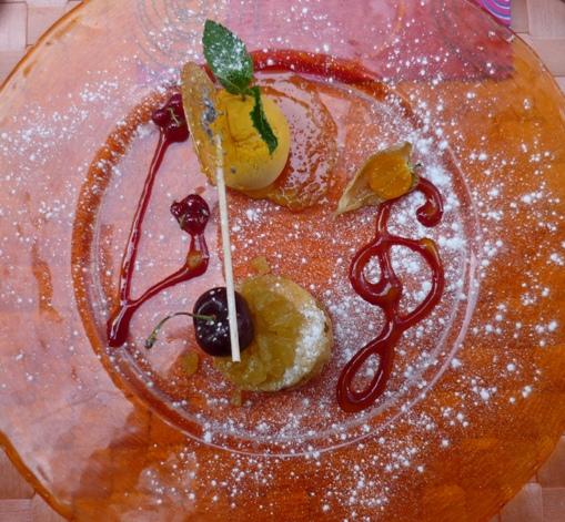 dessert - tour de sablé poires et pommes caramélisées