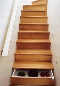 escalier range chaussure