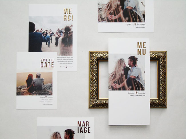 faire part mariage or