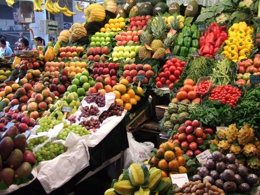 Légumes et fruits pour le bronzage