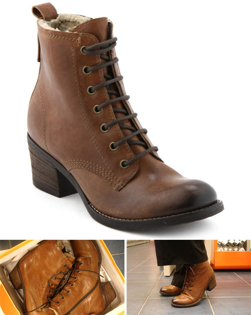 la hall aux chaussures bottines marrons