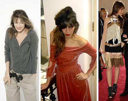Jane Birkin Lou Doillon Charlotte Gainsbourg