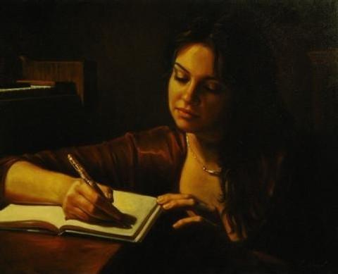 jeune-fille-ecrivant