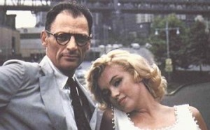 Marilyn Monroe et Arthur Miller, photo de Sam Shaw
