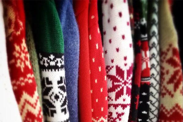 matières pull de Noël