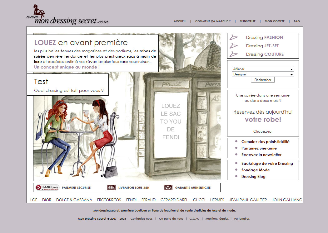 Mon dressing secret