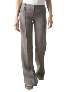 Pantalon large en flanelle gris Promod