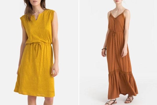 Robe jaune tendance été