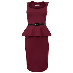 robe-new-look-bordeaux