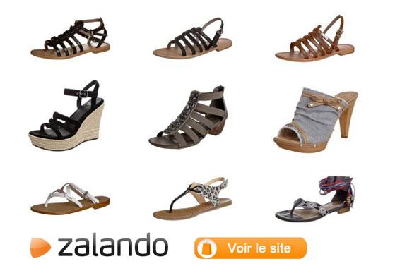 sandales nu pieds chaussures femme Zalando