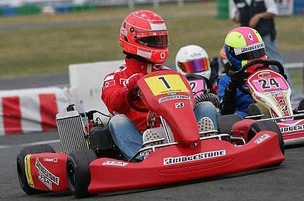schumacher sur un karting