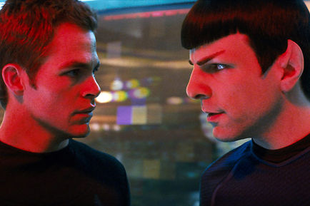 Star Trek Kirk et Spock vaisseau spacial
