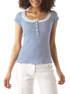 t-shirt-marin-raye-bleu-promod