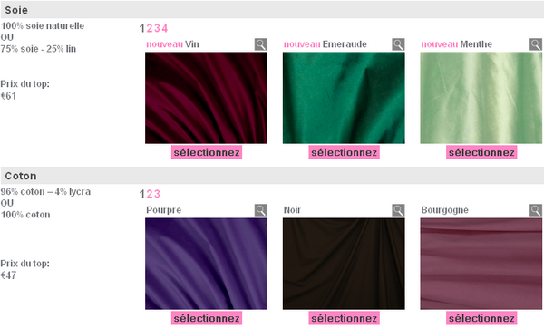 Cr er ses v tements avec 3 suisses couture - Les couleurs des tissus ...